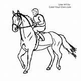 Horse Coloring Racing Pages Race Racehorse Barrel Printable Drawing Walking Line Getdrawings Walk Getcolorings Gate Own Colori sketch template