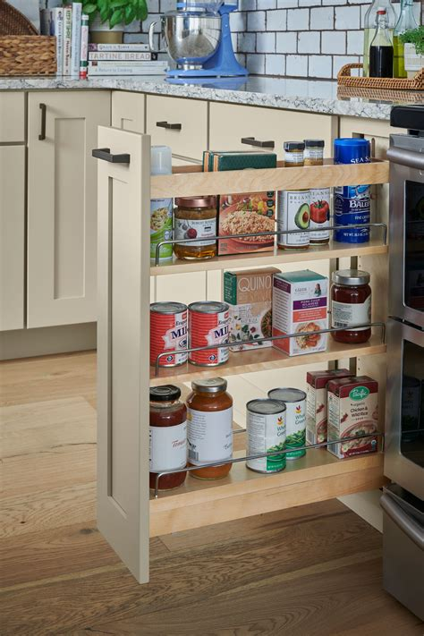 pull  spice rack schuler cabinetry  lowes