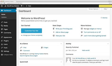 Introduction To Your Wordpress Dashboard