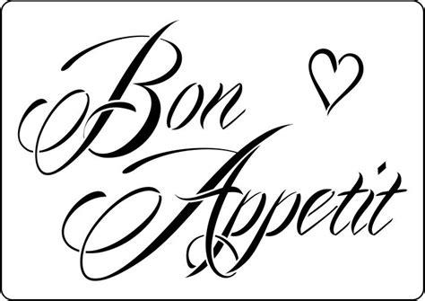 bon appetit vintage style stencil to buy now