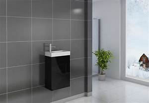 Waschbecken Gäste Wc : sam g ste wc waschbecken 40 x 22 cm schwarz vega ~ Watch28wear.com Haus und Dekorationen