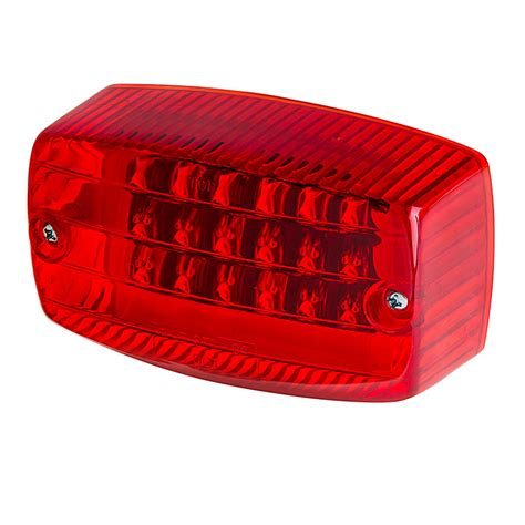 clear led trailer tail lights rectangle led golf cart and trailer tail lights 4 1 2
