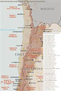 Chile and Argentina Map