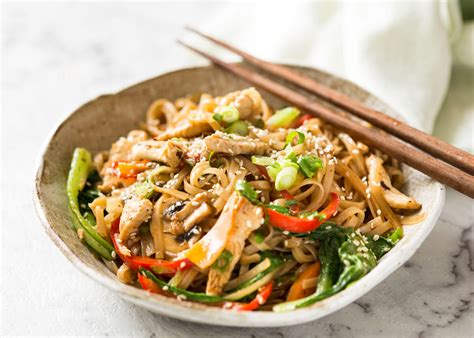 chicken stir fry recipes chicken stir fry with rice noodles recipetin eats