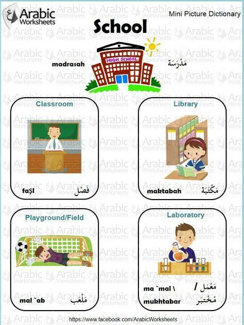 Pin By Arabic Worksheets On Arabicworksheets (tm) Mini Dictionary  Pinterest  Arabic Lessons