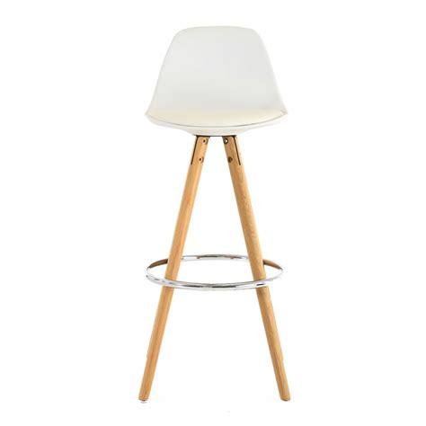 chaise de bar blanche chaise haute de bar blanche trépied en bois style