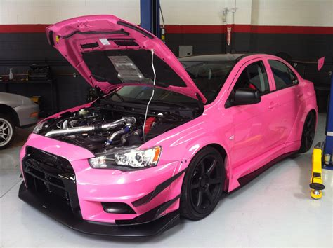 pink evo  appeared   dream garage  dream garage