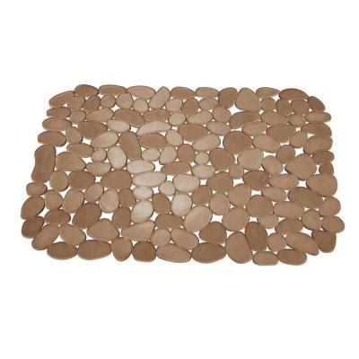 interdesign 11 75 in pebblz large sink mat in amber 60662