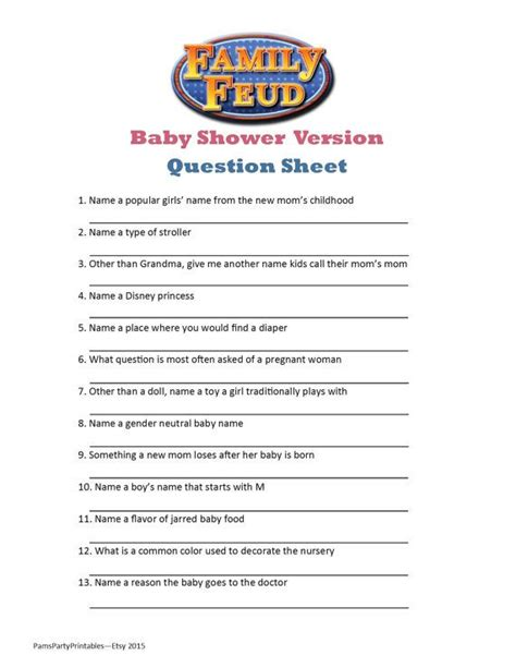 family feud game ideas  pinterest family