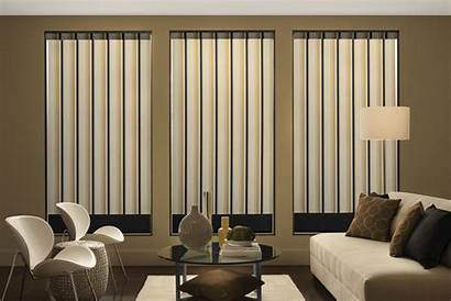 Blinds Curtains Vertical Modern Window Decorating Living