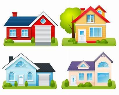 Vector Houses Private Illustration Vectors Village Bungalow