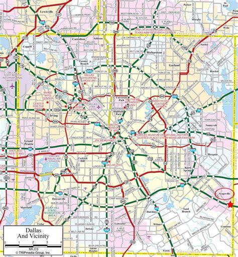 dallas suburbs map map  dallas suburbs texas usa