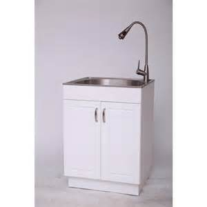 glacier bay all in one 24 2 in x 21 35 in x 33 85 in stainless steel laundry sink with faucet