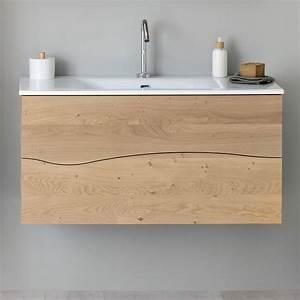 meuble salle de bain bois sherwood 100 cm la salle de With meuble salle de bain bois tiroir