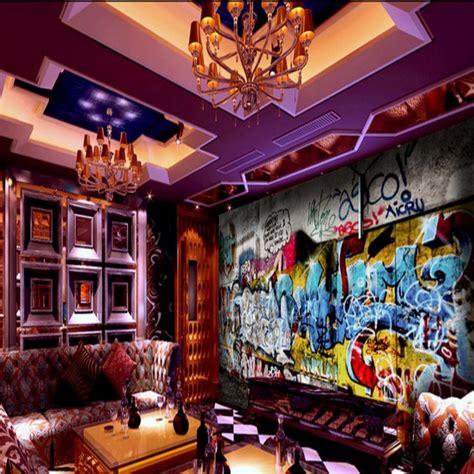 custom photo wallpaper custom street rock graffiti bar ktv