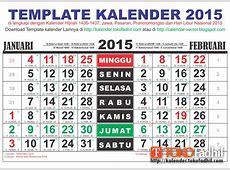 Template Kalender 2015 CDR Corel Draw, Template Kalender