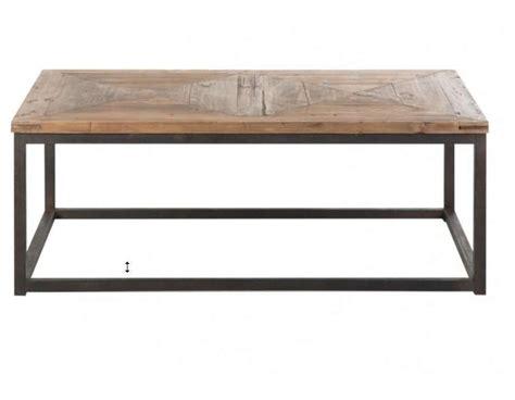 table basse contemporaine table basse industrielle plateau bois vical home