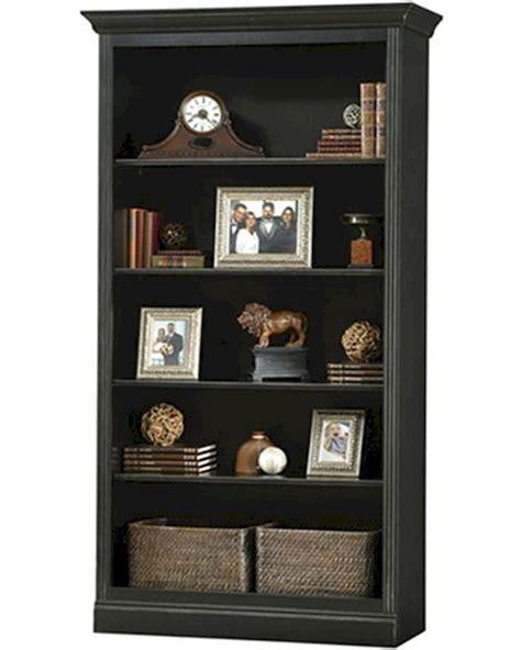 Antique Black Bookcase by Antique Black Central Bookcase Oxford By Howard Miller Hm