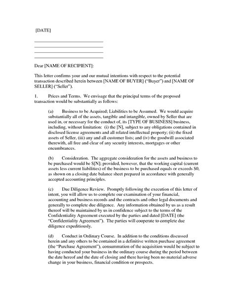 letter  intent  purchase  printable documents