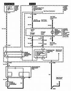 Acura Cl  1997 - 1999  - Wiring Diagrams - Rear Window Defogger