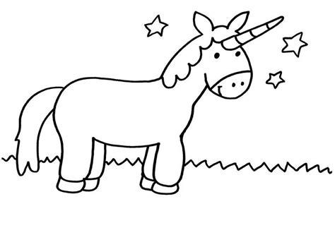 Einhorn malbuch fur kinder und erwachsene bonus. Kostenlose Malvorlage Einhörner: Einhorn und Sterne zum Ausmalen