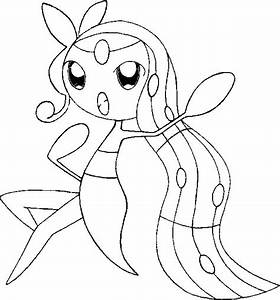 Coloring Pages Pokemon - Meloetta - Drawings Pokemon
