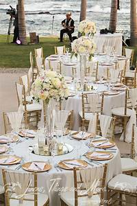 chic romantic blush gold wedding decor at the fiesta With white and gold wedding decor