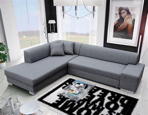 canapé d angle coffre canapé d 39 angle gris en tissu moderne