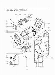 Lg Wm2010cw Parts List And Diagram   Ereplacementparts Com