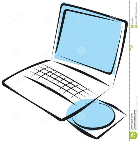 Laptop illustration stock vector. Image of multimedia