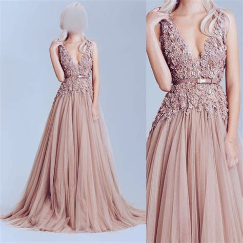 dusty pink prom dress tulle prom dresses  shoulder