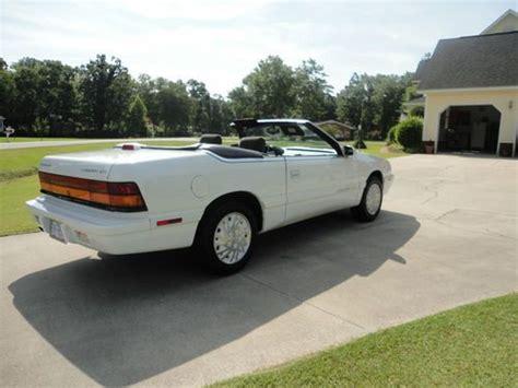 1995 Chrysler Lebaron Gtc Convertible by Buy Used 1995 Chrysler Lebaron Gtc Convertible V6 24k