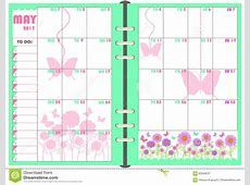 Daily Planner May 2017 Stock Vector Image 83046537