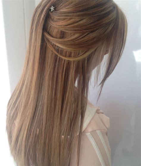 hair ideas for the matric dance half up half down long
