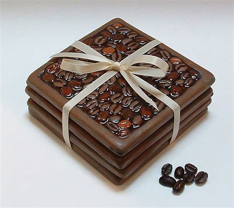 The artist i saw on pinterest had put the. Coffee Bean Coasters | Coffee bean art, Coffee bean decor, Coffee lover gifts