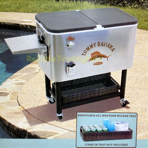 bahama rolling cooler stainless steel motorcycle