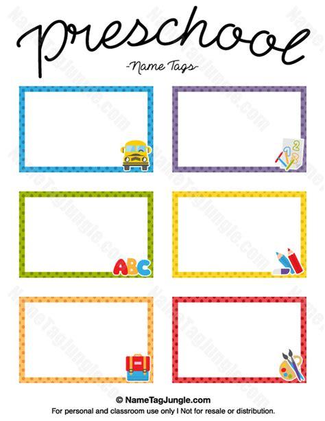 name tag template free printable printable preschool name tags