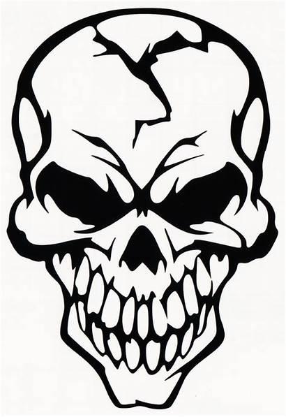 Skull Clipart Decal Clip Skulls Evil Vinyl