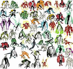 This is a picture of most of the aliens from Ben 10, Ben ...