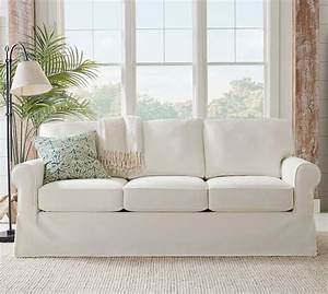 buchanan roll arm slipcovered sofa collection pottery barn With buchanan sectional sofa pottery barn