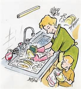 faire la vaisselle ecriture humour