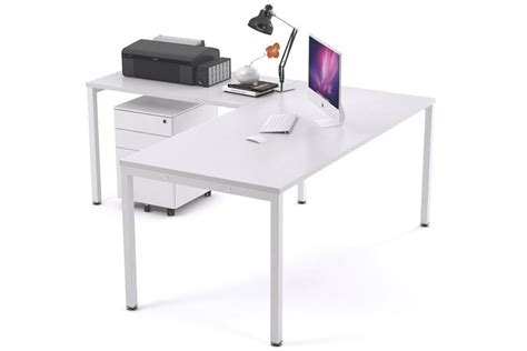 square table l shades manager desk l shaped white square leg litewall 2000
