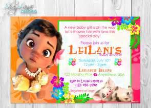 Moana Baby Birthday Invitation Template