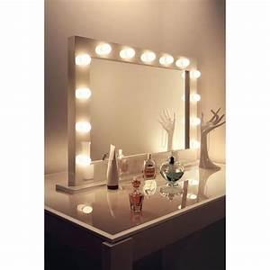 Coiffeuse Avec Led : miroir de maquillage ampoules achat vente miroir de maquillage ampoules pas cher cdiscount ~ Teatrodelosmanantiales.com Idées de Décoration