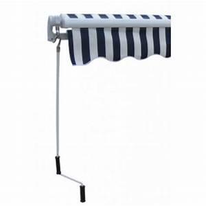 Store Banne Manuel : store banne manuel 300 x 250 cm bleu blanc en promo ~ Premium-room.com Idées de Décoration