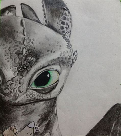 Amazing Drawing Of Toothless! Drawingssketchesart