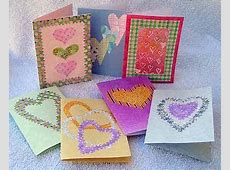 Easy Homemade Valentine Cards Crafts by Amanda