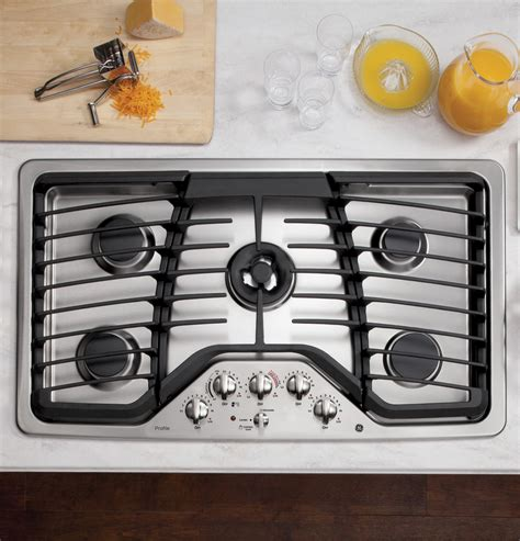 ge profile gas cooktop ge profile series 36 quot built in gas cooktop pgp986setss
