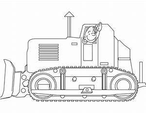 Free Construction Coloring Pages: Buldozer, Back Hoe and ...