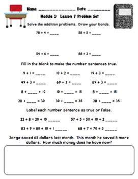 eureka math worksheets 2nd grade eureka math 2nd grade student sheets module 1 by cakes tpt